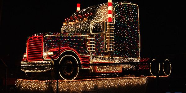 Truckers Help Santa Deliver Christmas
