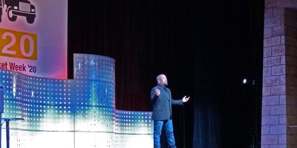 Daymond John, founder and CEO of FUBU and star of Shark Tank, gave a keynote presentation during...