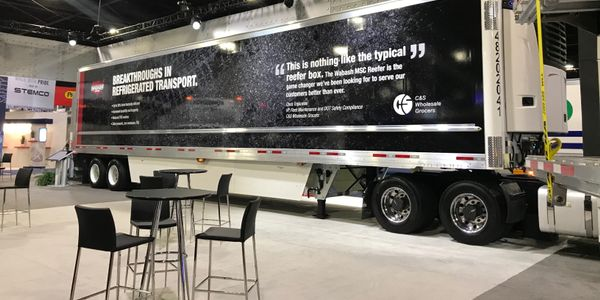 Wabash says its new MSC reefer trailer is up to 30% more thermally efficient than a conventional...