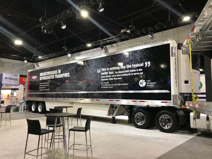 Wabash says its new MSC reefer trailer is up to 30 percent more thermally efficient than a conventional refrigerated trailer. - Photo: Wabash National