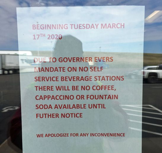 Truck stops have stopped offering self service. Most have had to close dine-in restaurants, as well. - Photo: Jeff Clark