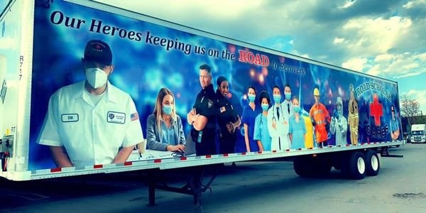 Road Scholar's latest trailer wrap recognizes the everyday heroes of the pandemic - including...