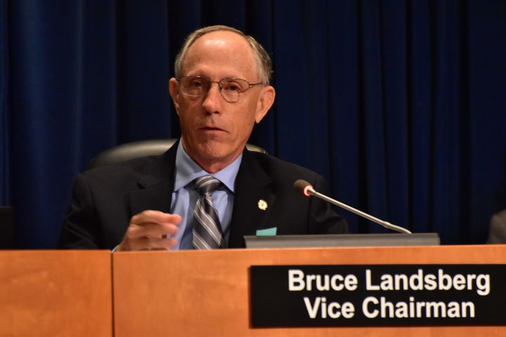 National Transportation Safety Board Vice Chairman Bruce Landsberg poses a question to the investigative staff during a public meeting held in Washington, D.C. - Photo: NTSB Photo by Chris O'Neil