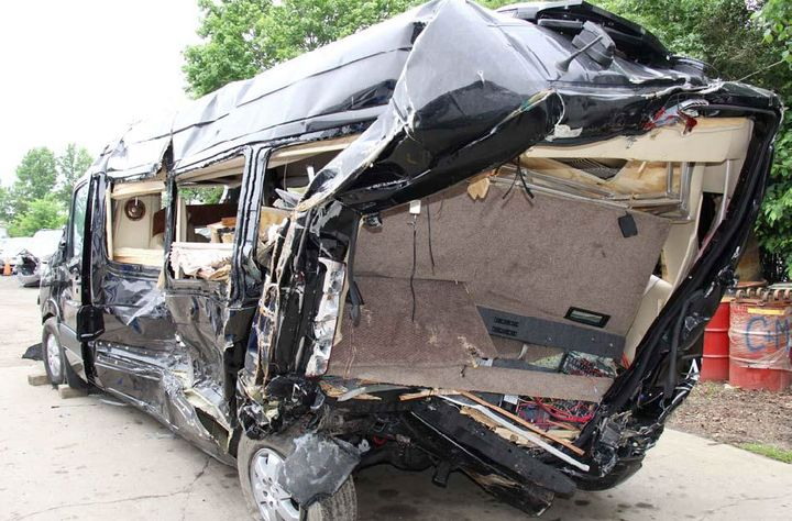 After the highly publicized 2014 fatal crash between a fatigued Walmart driver and a van limo carrying comedian Tracy Morgan, Walmart introduced a fatigue management program that exceeded regulatory minimums. - Photo: NTSB