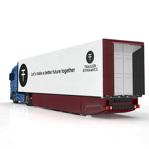 The Newton e-Trailer is an electric drive train that replaces one of the trailer's conventional non-powered axles with an electric axle. - Photo: Trailer Dynamics