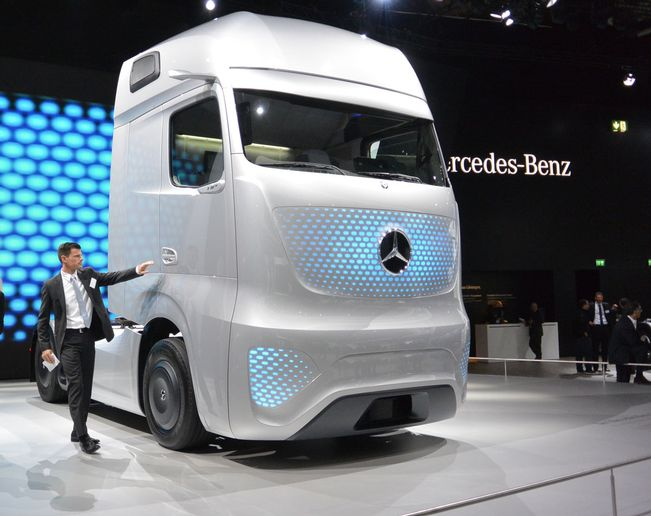 Mercedes-Benz concept Future Truck in 2014. - Photo: Daimler Trucks