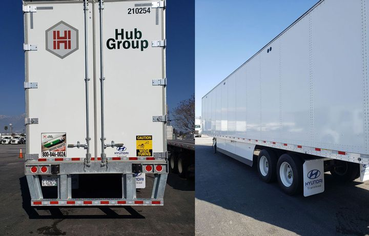 Hub Group worked with suppliers to spec a 14-foot-high trailer that meets the needs of one of its dedicated customers. - Photo: Hub Group
