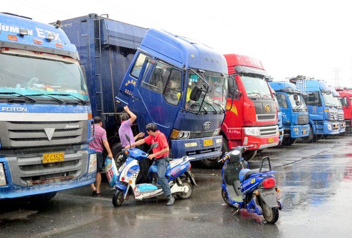 Truck parking is a problem facing drivers around the world. Here, a truckstop outside Shanghai. - Photo: Deborah Lockridge