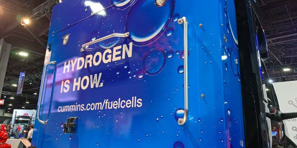 Cummins displayed a hydrogen-fuel-cell concept vehicle at the North American Commercial Vehicle...
