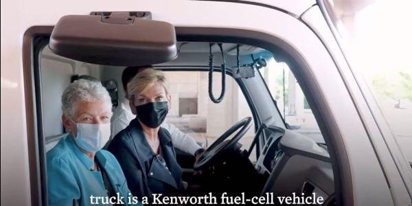 Energy Secretary Jennifer Granholm and National Climate Advisor Gina McCarthy filmed a White...