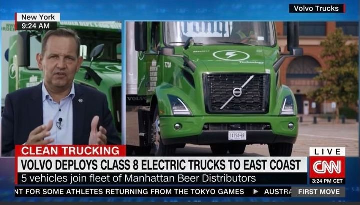 Other truck makers are getting battery-electric trucks in the hands of fleets. - Photo: CNN Screen Capture