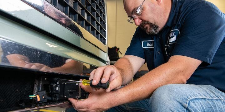If your technicians are not trained on how to properly calibrate safety sensors on vehicles, it's time to start looking around and seeing where you can go to get your technicians up to speed. - Photo: Bendix