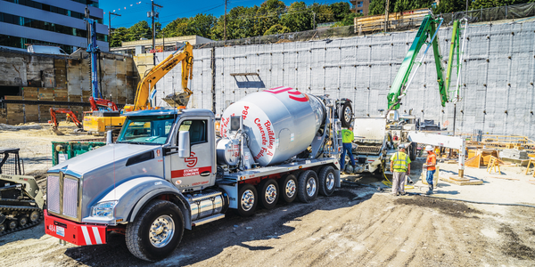 Concrete sales are down from last year, says Ralph LoPriore – but they've been able to replace...