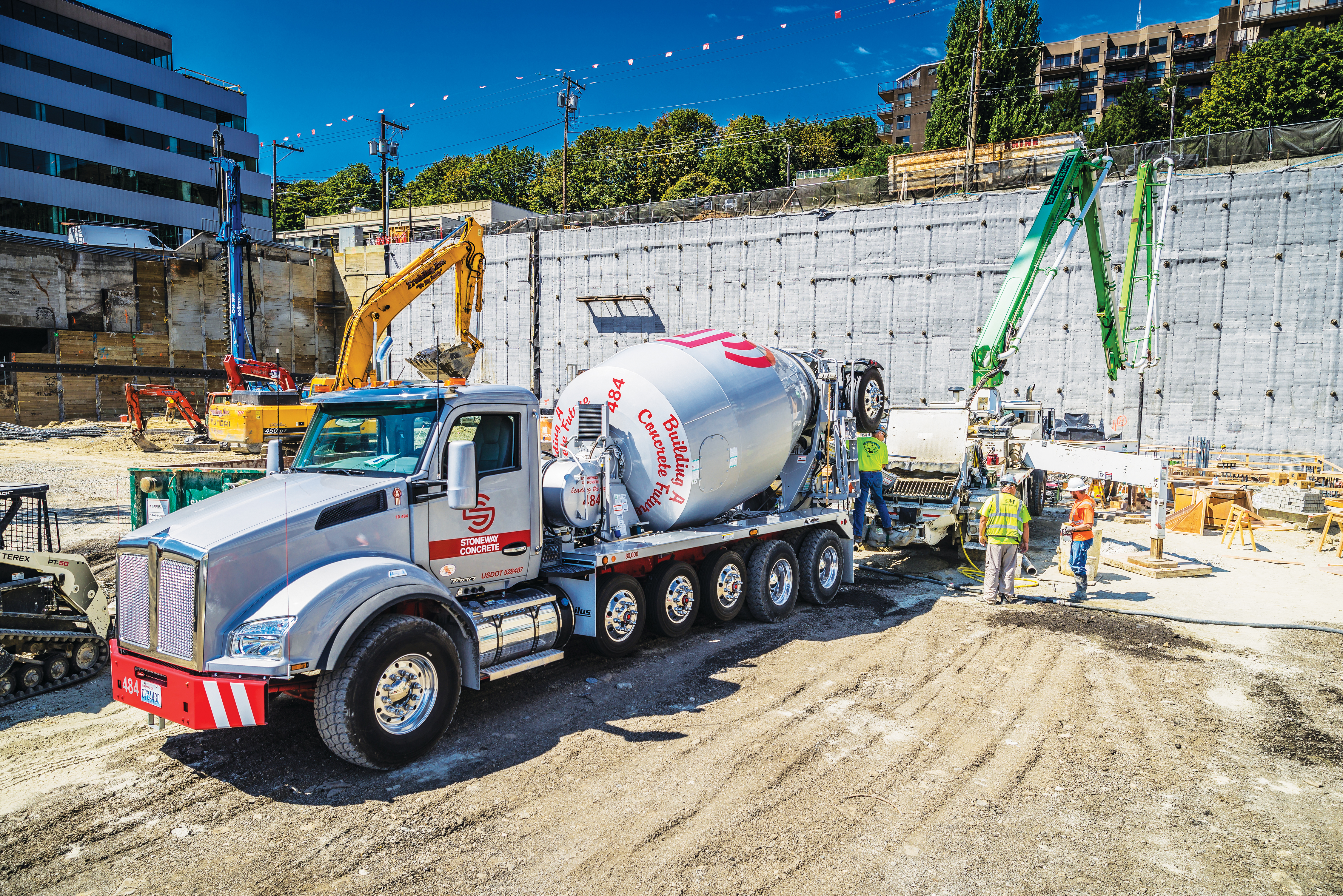 Concrete sales are down from last year, says Ralph LoPriore – but they've been able to replace aging trucks and modernize the fleet.  - Photo Credit Gary Merlino Construction/Stoneway Concrete