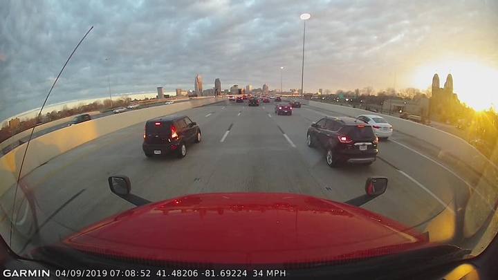 A view from Jeff Barker's dash cam – sans GPS.  - Photo via Jeff Barker Facebook page