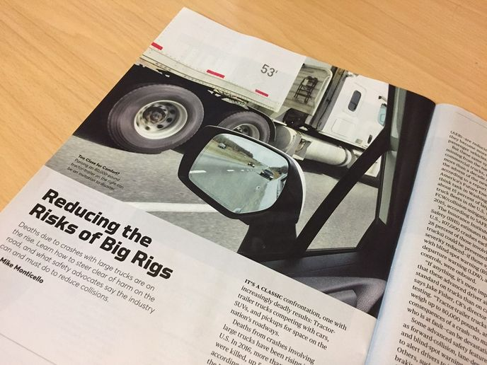 A recent report in Consumer Reports covers the risks of big rigs on the road and it provides a largely balanced and accurate look at the issue of cars safely sharing the road with trucks.  - Photo: Deborah Lockridge