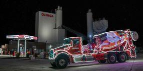 Ozinga's Merry Mixer Truck Lights up the Holidays