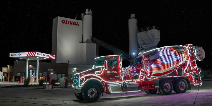Ozinga's second Merry Mixer, with even more lights than the original, was scheduled to participate in 30 community events this holiday season.  - Photo: Ozinga