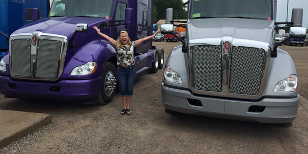 "In a recent Facebook post, Joyce Brenny said, ""I still get excited about new trucks!"""