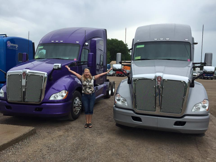 "In a recent Facebook post, Joyce Brenny said, ""I still get excited about new trucks!""  - Photo via Joyce Brenny Facebook page"