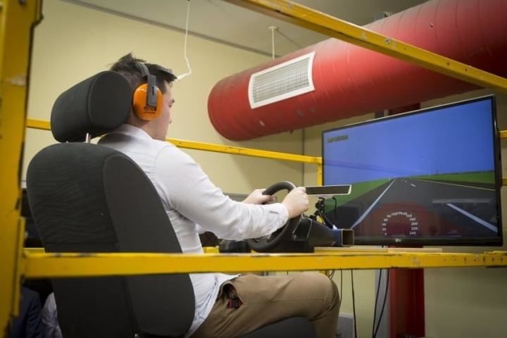 During a one-hour driving simulation, participants began to show signs of drowsiness within 15-30 minutes when exposed to low-frequency vibration.