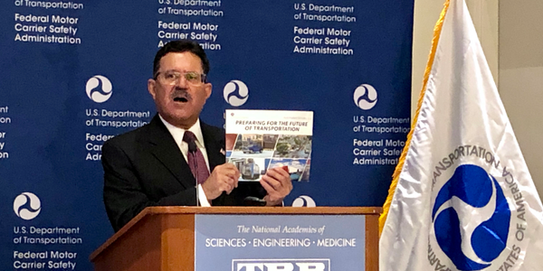 FMCSA Adminstrator Ray Martinez at agency forum in Washington, D.C., on Jan. 15.