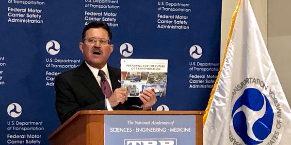 FMCSA Adminstrator Ray Martinez at agency forum in Washington, D.C., on Jan. 15.