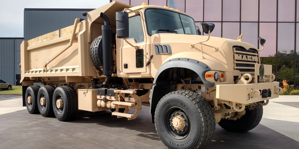 M917A3s are based on Mack's Granite vocational truck. Meritor tri-drive rear axles deliver...