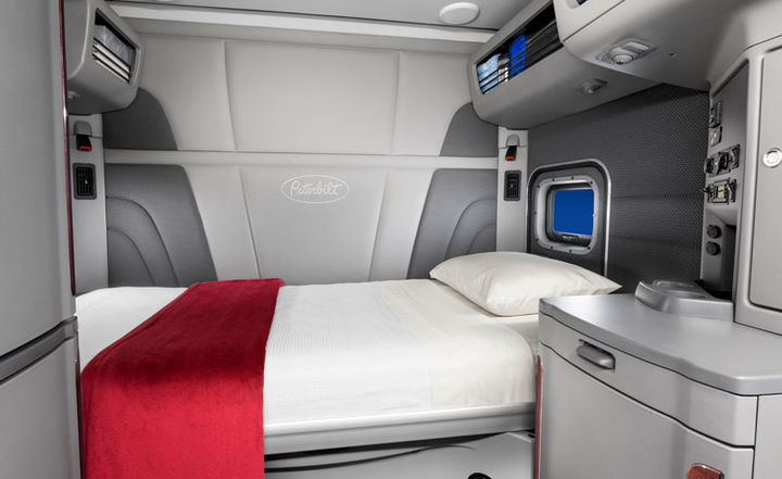 Trucking groups want the split sleeper berth provision of hours of service back for greater flexibility. But one fleet owner says that will negatively affect safety.  - Photo courtesy Peterbilt