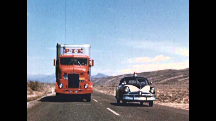 At the dawn of the coast-to-coast trucking industry, Pacific Intermountain Express made a promotional film explaining the new logistics network to Americans.  - Screen Grab: YouTube