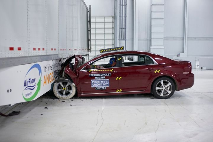 In 2017, the Insurance Institute for Highway Safety tested a newly developed side underride guard. - Photo courtesy AirFlow Deflector
