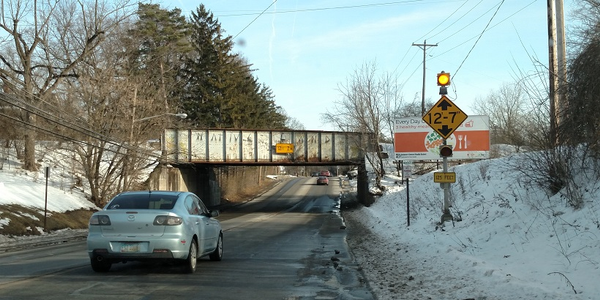 The low railroad bridge on West Central Avenue (State Route 37) in Delaware, Ohio, is getting a...