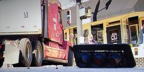 Truck vs. Traffic Light Makes the News