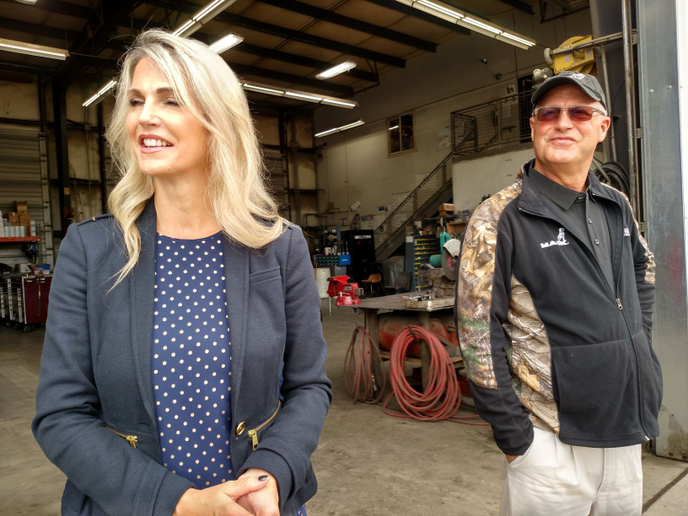 Tina Benson (left) is president and her brother, Kevin McCann, is a VP, operations manager and shop supervisor for the family run company. Their mother, Paula McCann, founded Silver Streak in 1982 and gave it its name.