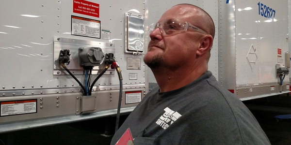 John Oswalt, a repair technician at a Love's Truck Stop in Columbus, Mississippi, is among...