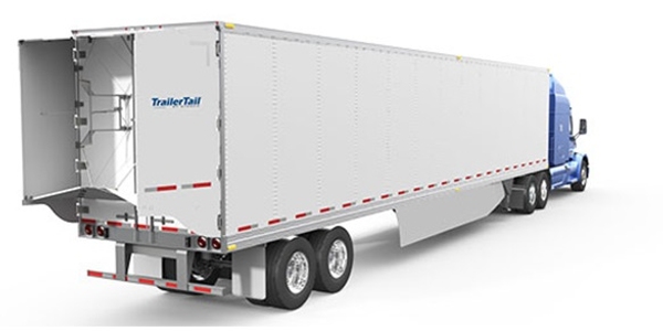 Stemco Trailer Tail AutoDeploy version automatically opens its panels when a trailer-trailer...