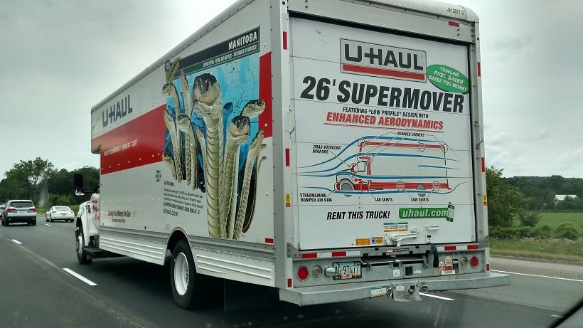 U Haul Trailer Sizes >> U-Haul Graphics Tout New Truck's Curvy Body - Trailer Talk ...