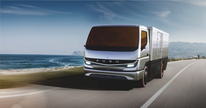 """The Fuso Vision F-Cell is a just-rolled-out """"fully drivable concept model"""" intended to help """"explore the benefits of fuel cell technology"""" for use in commercial vehicles, according to Daimler.  - Artist's Rendering: Daimler"""