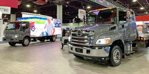Hino showed off its upgraded model-year 2021 medium-duty trucks at the NACV show.