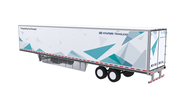 The Nitro ThermoTech concept trailer shown by Hyundai Translead at the 2019 NACV Show features a nitrogen-powered refrigeration unit that emits no noise or harmful exhaust gases into the atmosphere. - Image: Hyundai Translead