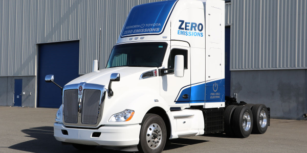 Kenworth is showcasing a zero-emissions hydrogen fuel cell truck at NACV.