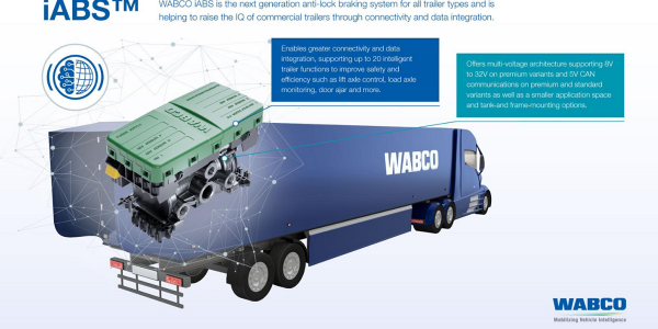 Wabco introduced iABS, its next generation of anti-lock braking systems for commercial trailers,...