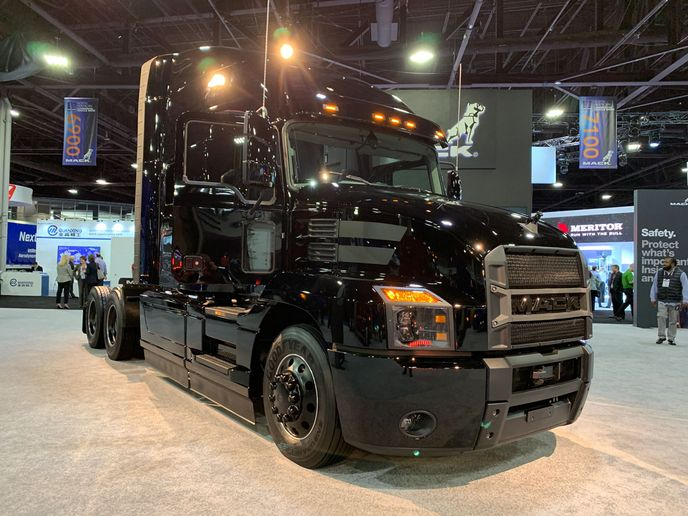 The limited edition Mack Black Anthem on the NACV show floor.