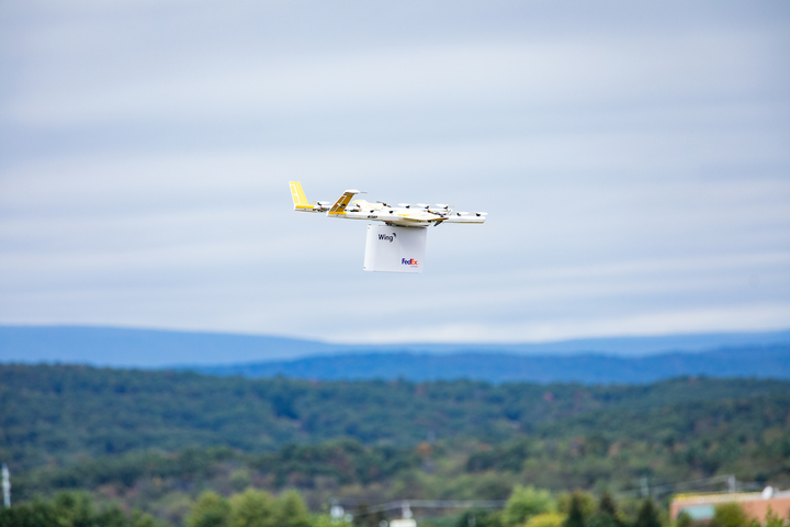 FedEx said a parcel delivery to a private residence on Oct. 18, 2019, was a first in the U.S.
