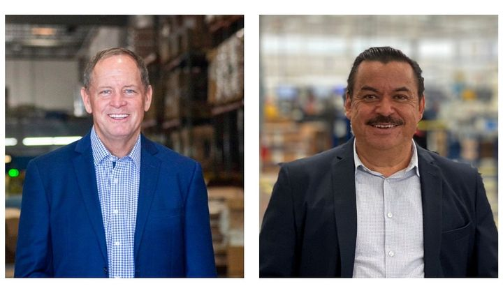 Phillips Industries has restructured its business and promoted Rob Myers (left) and Filberto Coello (right) to head two of the five new business units.