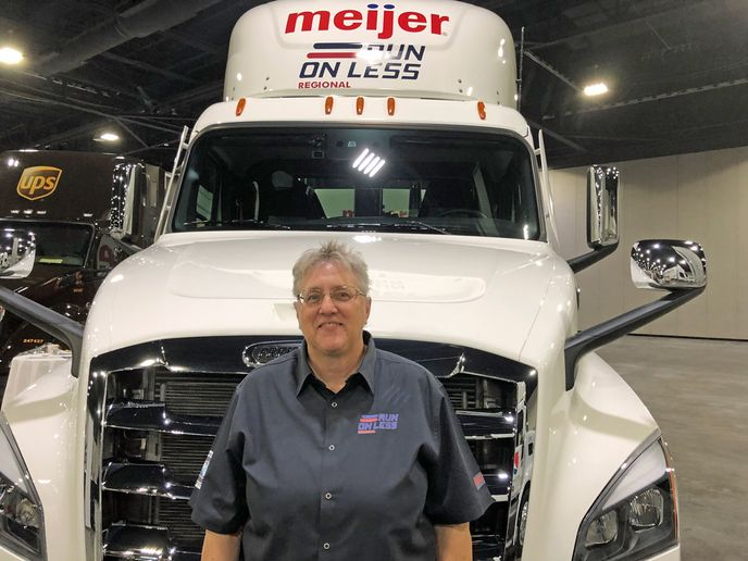 Rita Bare, only woman to participate in Run on Less Regional, did not reach her intended goal of 11 mpg during the demonstration, but said she learned a lot about how fully leverage the technology on her truck better during the event.