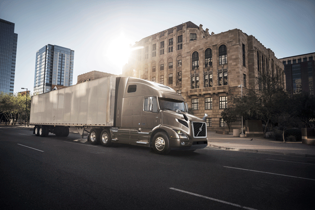 The VNR 660 features a shorter, 164-inch bumper-to back-of-cab length that Volvo said offers both weight savings from decreasing the overall size of the truck and the option to use more versatile tractor-trailer combinations for increased cargo capacity