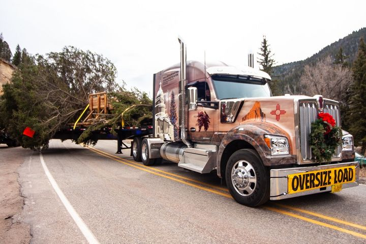 It's already that time of year - the 55th Capitol Christmas Tree is headed for Washington D.C., beginning its 2,000-mile journey from New Mexico's Carson National Forest. - Photo via Kenworth