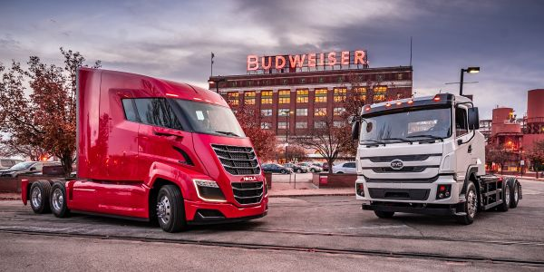 Using a Nikola hydogen-electric truck and a BYD electric truck, Anheuser-Busch completed a...