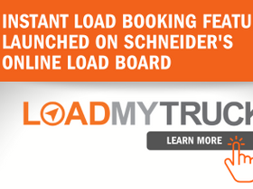 Schneider Offers Instant Load Booking for Third Party Carriers